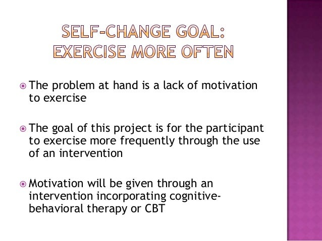 self behavior change project