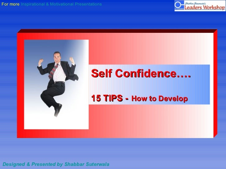 Self Confidence 15 Tips To Develop