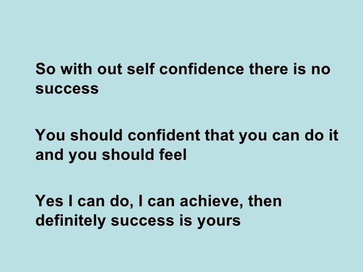 confidence essay writing