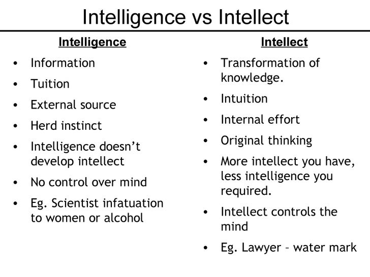 What Is The Difference Between Intellect And Intelligence