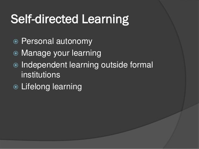 Self Directed Learning - YouTube