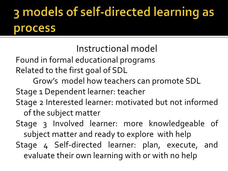 1 evaluate approaches to self managed learning