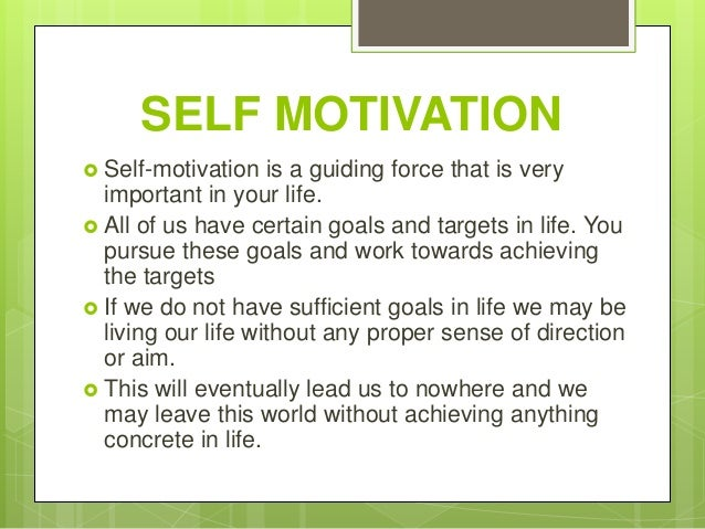 the importance of moving towards self confidence in achieving various goals Having goals for things we want to do and working towards them is an important goals makes us more like to achieve different ways of reaching our goals.