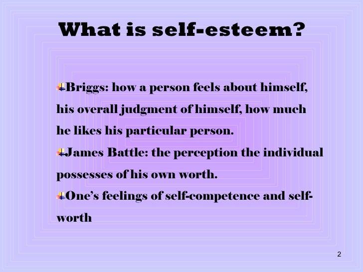 the importance of self esteem