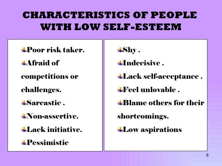 Essay on low self esteem