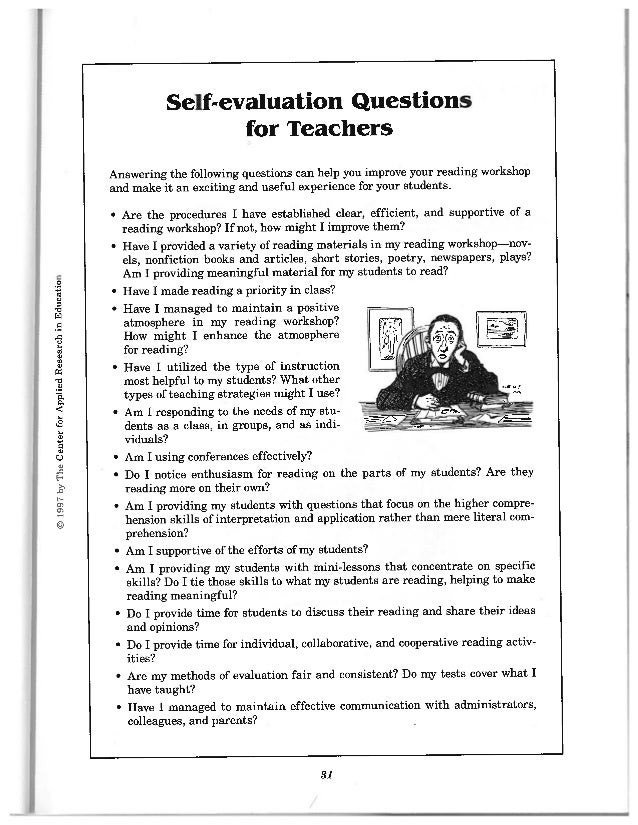 Evaluation For Teachers