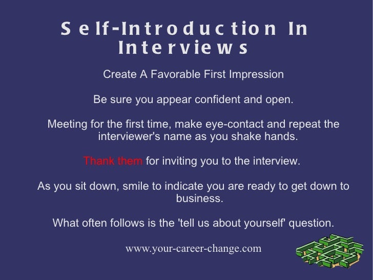 Self introduction sample for a job interview youtube.