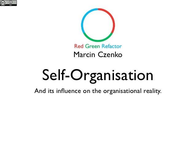 Marcin Czenko  Self-OrganisationAnd its influence on the organisational reality.