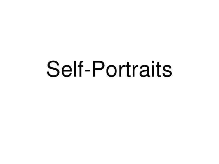 Self-Portraits<br />