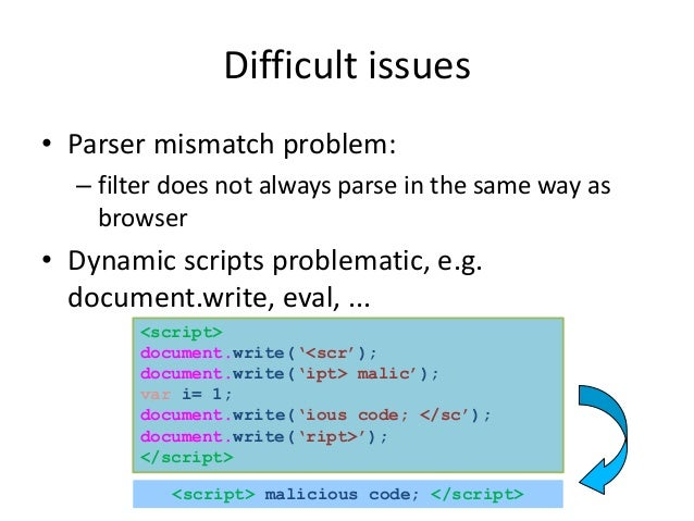 Self-Protecting JavaScript: A Lightweight Approach to Enforcing Security Policies Slide 3