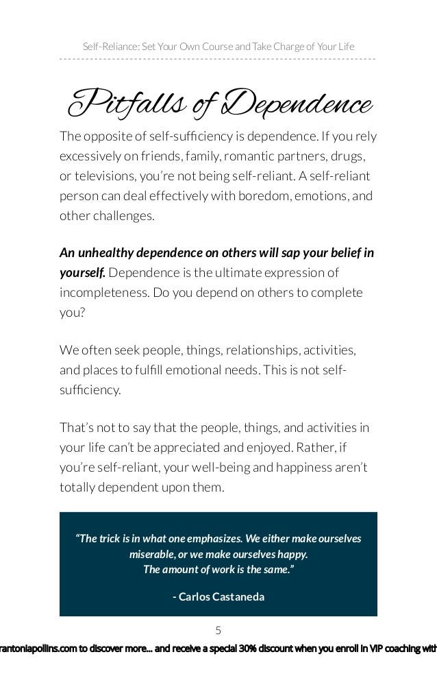 Believing in oneself to overcome obstacles in self reliance in ralph waldo emerson