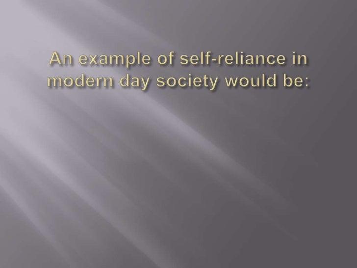 self reliance summary