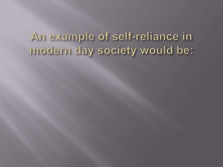 self reliance summary 5