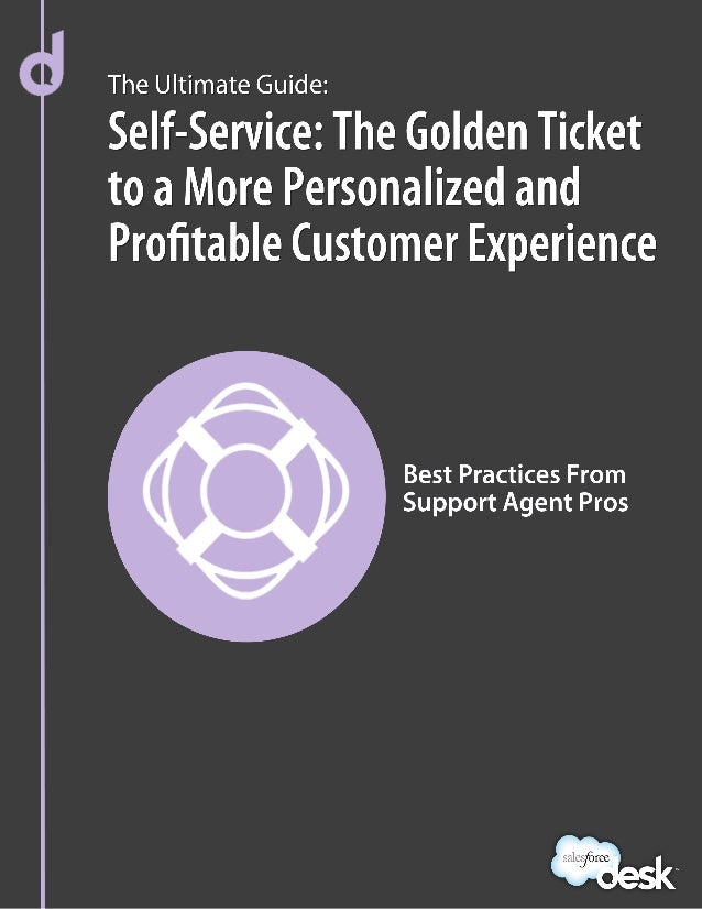 Self-Service: The Golden Ticket to a MorePersonalized and Profitable Customer ExperienceWhen a customer has a question, wh...