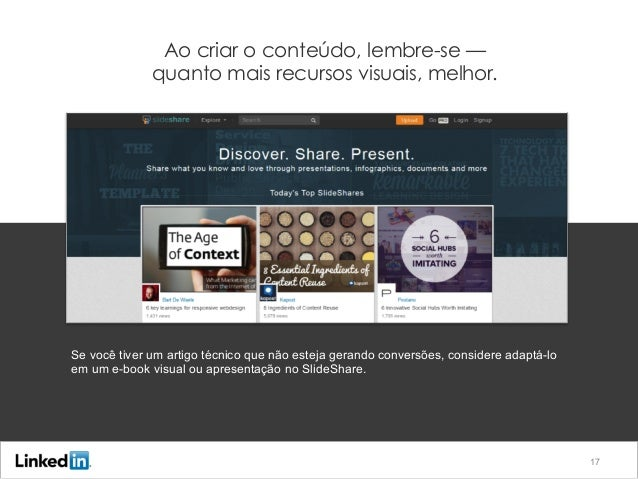 Primeira etapa: Crie conteúdo que gere leads Ao criar o conteúdo, lembre-se — quanto mais recursos visuais, melhor. Se voc...