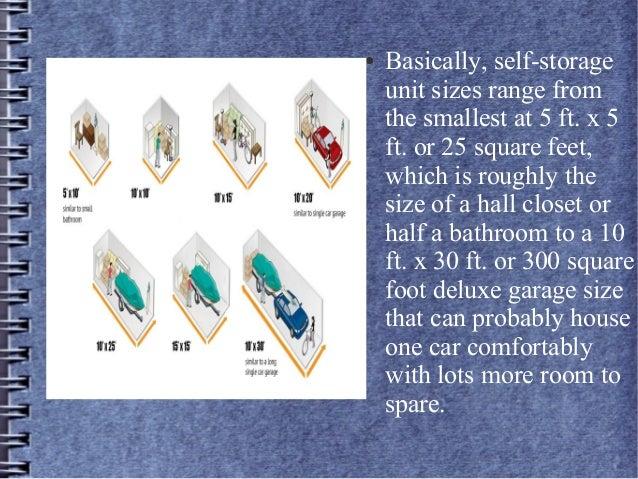 3. ? Basically self-storage unit ...  sc 1 st  SlideShare & Self storage unit sizes
