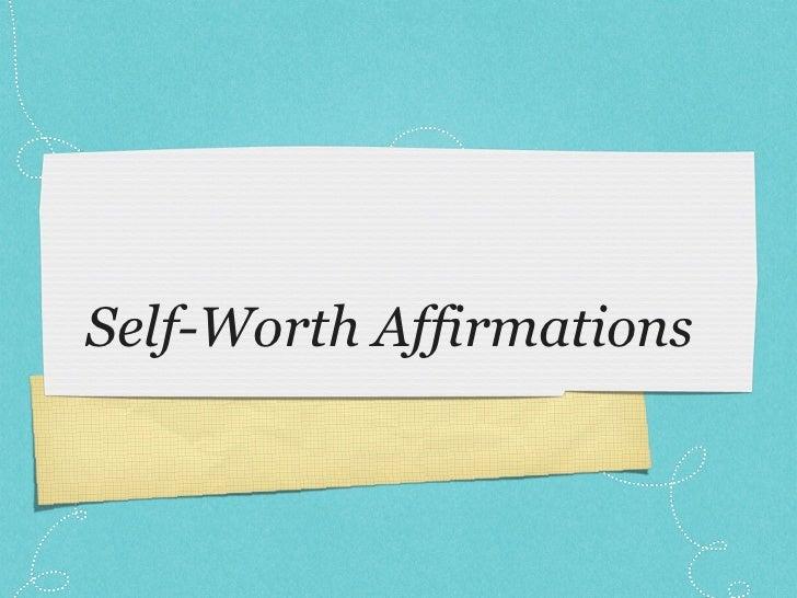 Self-Worth Affirmations