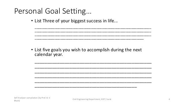 Personal Goal Setting… • List Three of your biggest success in life... ___________________________________________________...