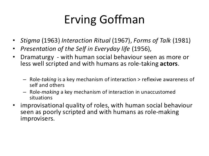 interaction ritual by erving goffman essay Get this from a library interaction ritual essays on face-to-face behavior [erving goffman.