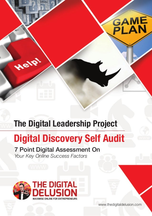7 Point Digital Assessment On Your Key Online Success Factors The Digital Leadership Project www.thedigitaldelusion.com Di...