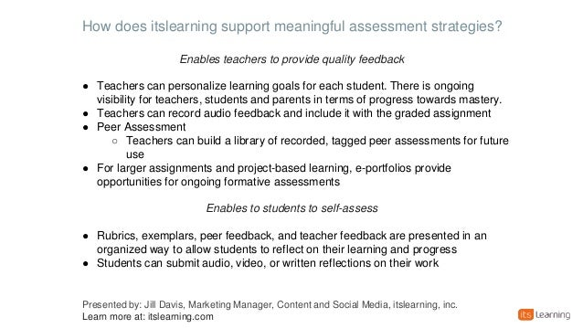 Strategies To Enhance Student Self-Assessment