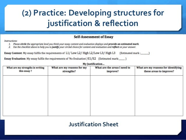 Justifying an evaluation essay topics