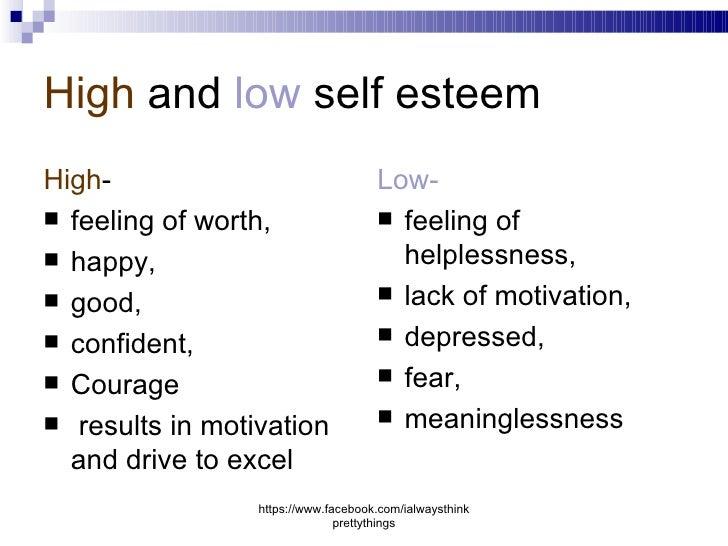 high self esteem results to high job Across both studies, high self-esteem high self-esteem prospectively predicts better work high self-esteem prospectively predicts better work conditions.