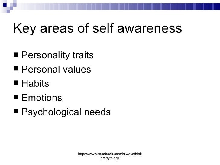 personal values and self awareness