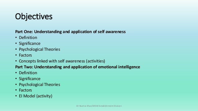 topic 2 self awareness 1 View topic 2 dq 1 from nursing nrs-451v at grand canyon university of arizona topic 2 dq 1 one of the five elements of emotional intelligence is self-awareness what behaviors would someone with.