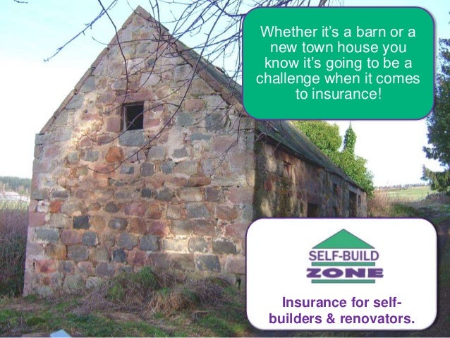 Whether it's a barn or a new town house you know it's going to be a challenge when it comes to insurance! Insurance for se...