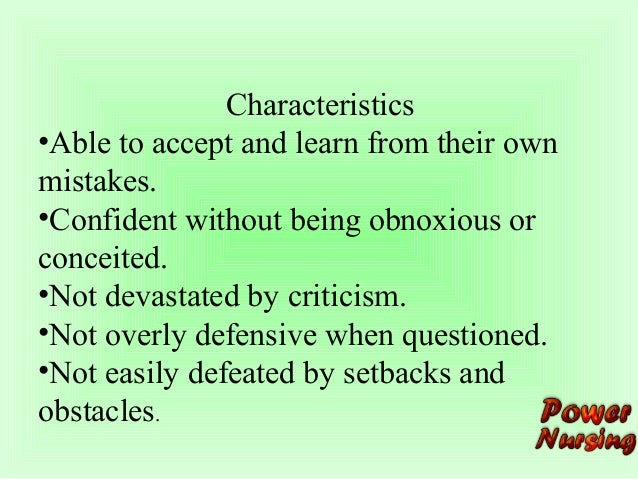 characteristics of self confidence