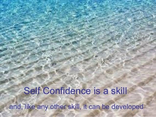 Self confidence Slide 2