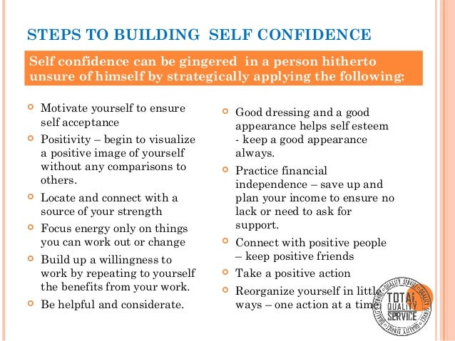 building confidence in others