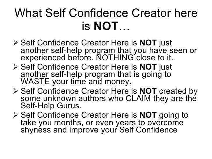 SELF CONFIDENCE CREATOR PDF
