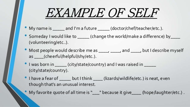 An understanding of the term looking glass self