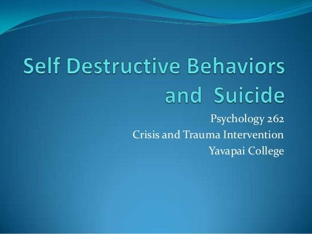 Psychology 262 Crisis and Trauma Intervention Yavapai College
