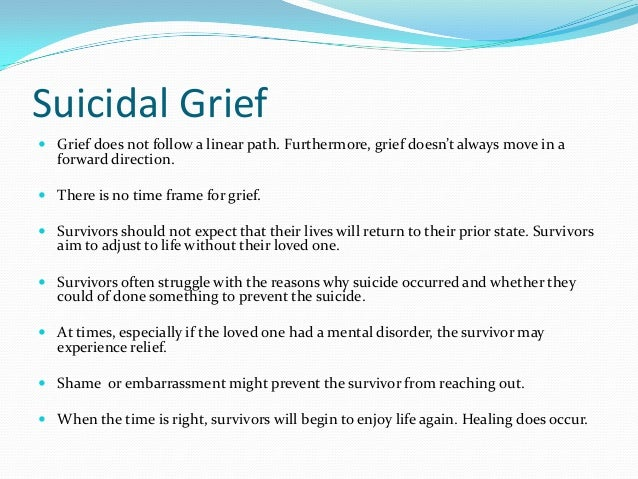 Grief counselors and the prevention of suicide