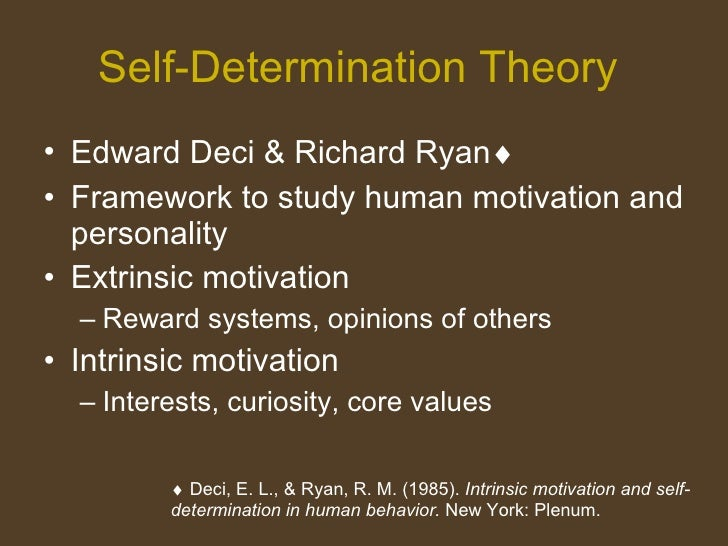 Self-Determination Theory and Learning Slide 2