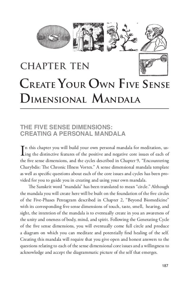 "CHAPTER TEN Create Your Own Five sense Dimensional Mandala !""#$%&'#$(#)(#$*&+#)(&,)(-$ ./#0!&)1$0$2#/(,)03$+0)*030 In this..."