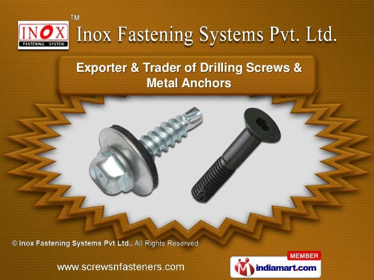 Exporter & Trader of Drilling Screws &           Metal Anchors