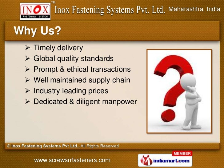 Why Us?    Timely delivery    Global quality standards    Prompt & ethical transactions    Well maintained supply chai...
