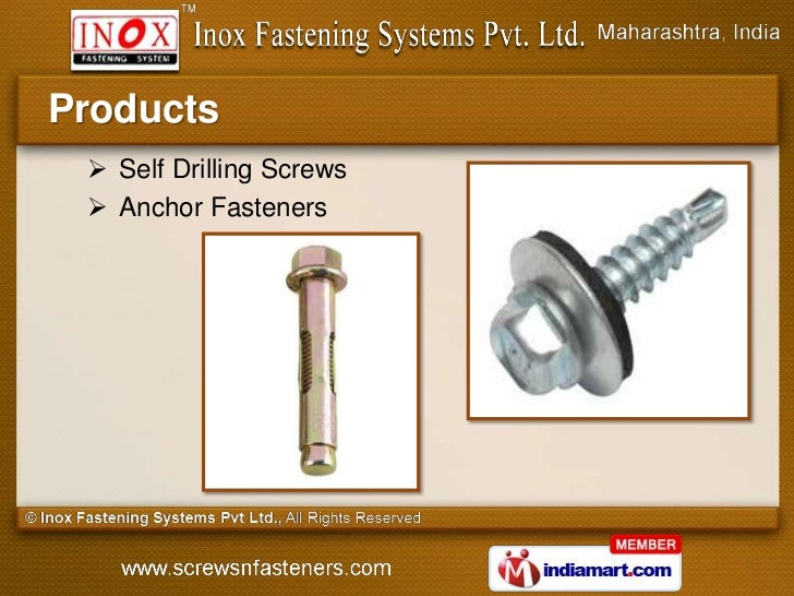 Products  Self Drilling Screws  Anchor Fasteners