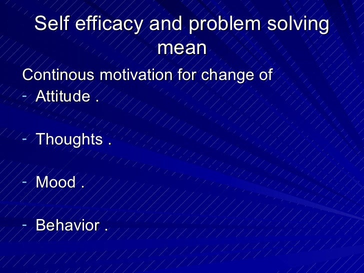 self efficacy motivation Self-efficacy and academic motivation in students university of payamnoor also independence in learning and study skills and problem solving has the most ability for academic self-efficacy and academic motivation prediction and there was the most correlation.