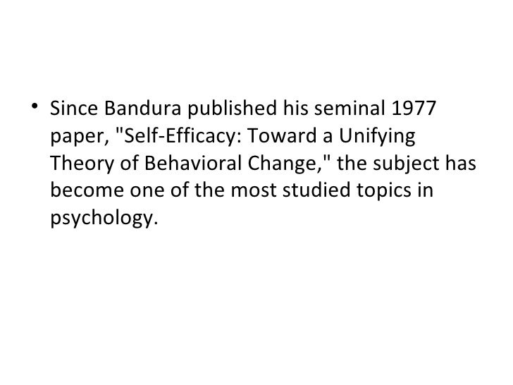 albert bandura reflection paper Social cognitive theory research papers look at albert bandura's theory that focuses on the mental state, and behaviors of human learning.