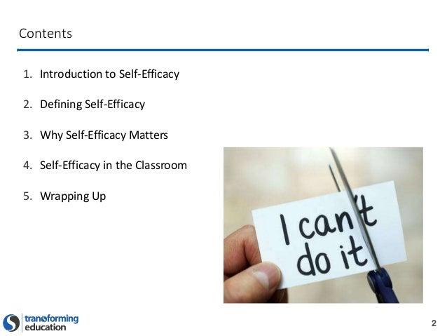 Self-Efficacy Presentation  Slide 2