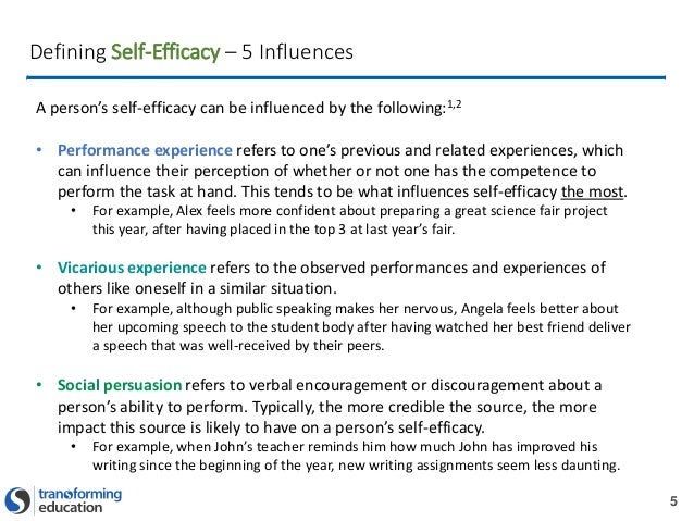 how to support self efficacy