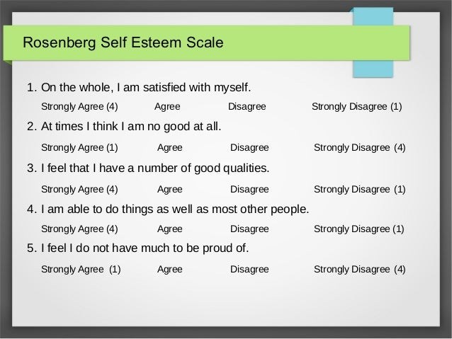 creating self esteem scales Rosenberg self-esteem scale greek validation on student sample self-esteem, validation rses, stress, health locus of control, ab personality types.