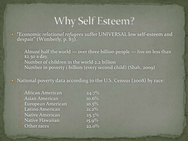 poverty and self esteem