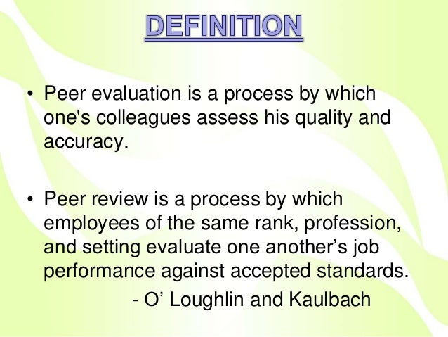 Definition Evaluation Definition Evaluating Nursing Process