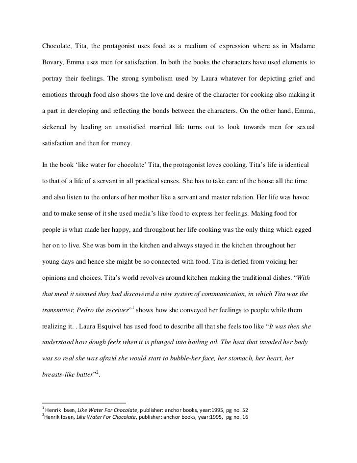 world lit essay  in like water for 2